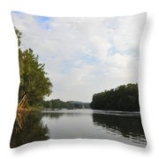 The Schuylkill River At West Conshohocken Throw Pillow