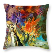 The Scream 02 Throw Pillow