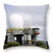 The Sea Based X-band Radar, Ford Throw Pillow