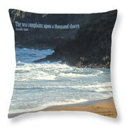 The Sea Complains Throw Pillow