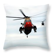 The Sea King Helicopter And The Agusta Throw Pillow