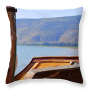 The Sea Of Galilee Throw Pillow