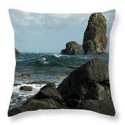 The Sea Of Sicily Throw Pillow