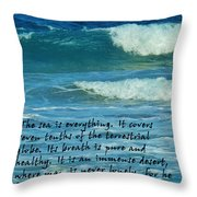 The Sea Poster Throw Pillow