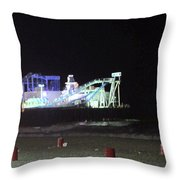 The Seaside At Night Throw Pillow