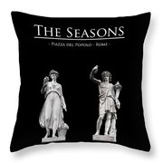 The Seasons Throw Pillow