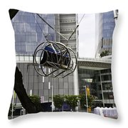 The Seat Of The G-max Reverse Bungee At The Clarke Quay In Singapore Throw Pillow