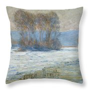 The Seine At Bennecourt Throw Pillow