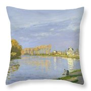 The Seine At Bougival Throw Pillow