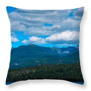 The Selkirk Mountains Of Priest Lake Throw Pillow