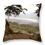 The Sentinels View Of The Ocean Throw Pillow