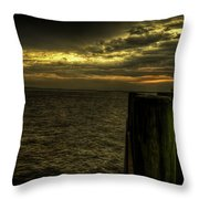The Setting Bay Throw Pillow