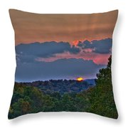 The Setting Sun Throw Pillow