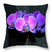The Shade Of Orchids Throw Pillow