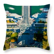 The Shadow Of The Eiffel Tower Throw Pillow