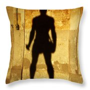The Shadow Of The Statue Throw Pillow