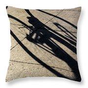 The Shadow That Follows Throw Pillow
