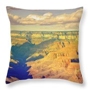 The Shadows In The Canyon Throw Pillow