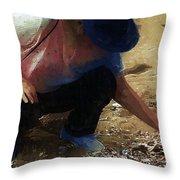 The Shell Seeker Throw Pillow