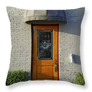 The Side Door Throw Pillow