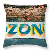 The Sign Of The Ozone Throw Pillow