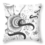 The Silent Dance Of The Particles Throw Pillow