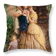 The Sinews Of Old England Throw Pillow by George Elgar Hicks