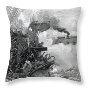 The Sinking Of The Cumberland, 1862 Throw Pillow