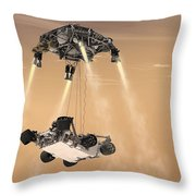 The Sky Crane Maneuver Throw Pillow