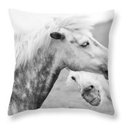 The Smiling Horse Throw Pillow