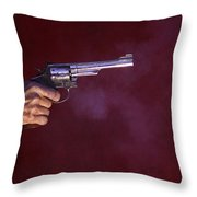 The Smoking Gun Throw Pillow