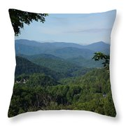 The Smoky Mountains Throw Pillow