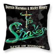 The Snakes Live In Europe Throw Pillow