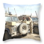 The Snatch Land Rover Used Throw Pillow