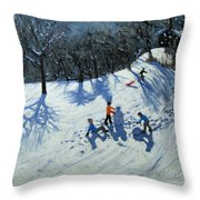 The Snowman  Throw Pillow by Andrew Macara