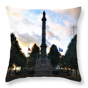 The Soldiers And Sailors Monument In Lafayette Square  Throw Pillow