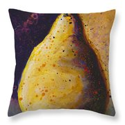 The Solitary Pear Throw Pillow