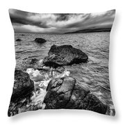 The Sound Of The Waves Throw Pillow by John Farnan