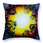 The Source Of All Color Throw Pillow