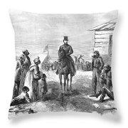 The South After Civil War Throw Pillow