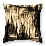 The Spanish Moss Throw Pillow