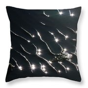 The Sparkling Ripples Throw Pillow