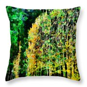 The Speckled Trees Throw Pillow