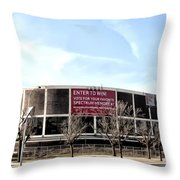 The Spectum In Philadelphia Throw Pillow by Bill Cannon