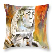 The Sphinx Of Petraion Throw Pillow