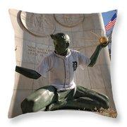 The Spirit Of Detroit Tigers Throw Pillow