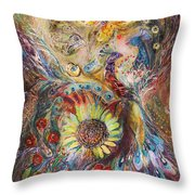 The Spirit Of Flowers Throw Pillow