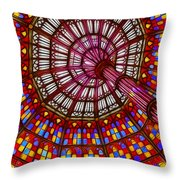 The Stained Glass Ceiling Throw Pillow