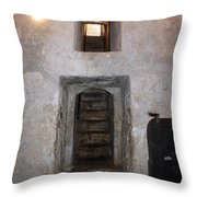 The Stairs To John The Baptist Tomb Throw Pillow