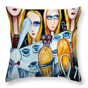 The States Of Alice Throw Pillow by Leanne Wilkes